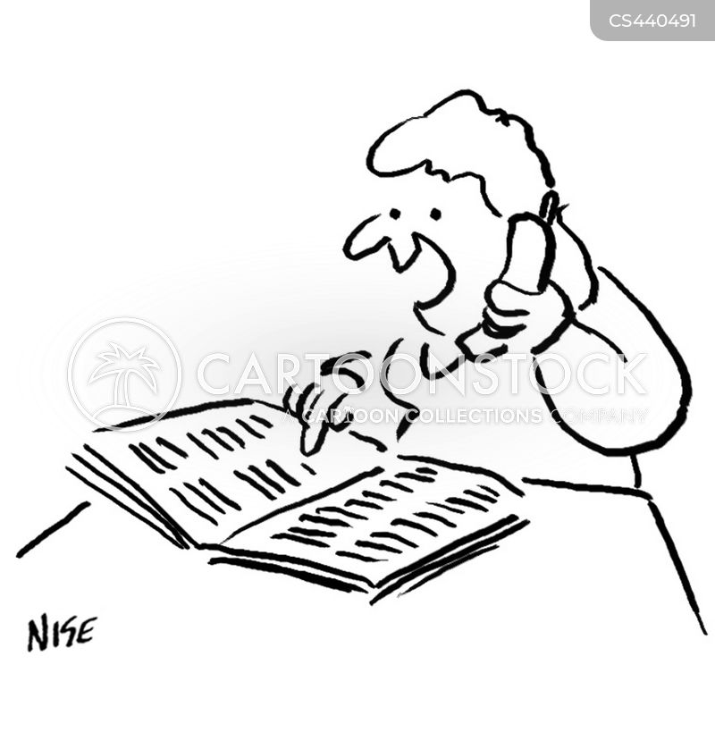 Telephone Book Cartoons And Comics Funny Pictures From CartoonStock