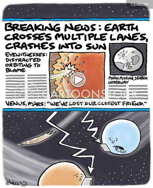 orbiting cartoon