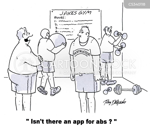 fitness instructors cartoon