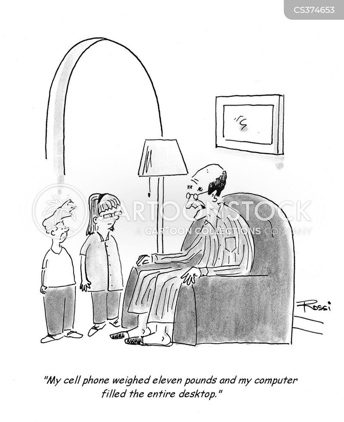 developing technology cartoon