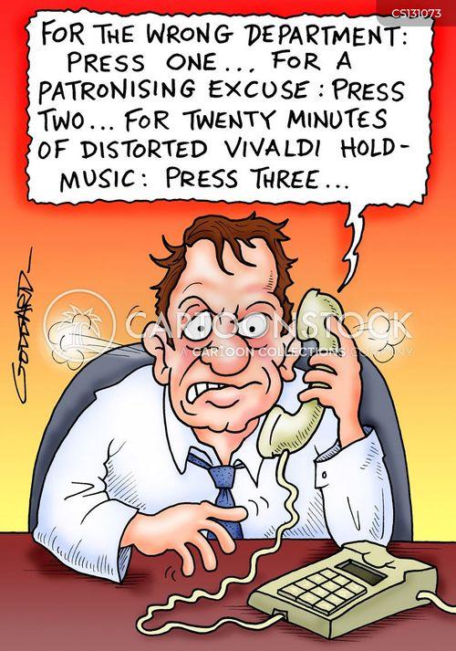 hold music cartoon