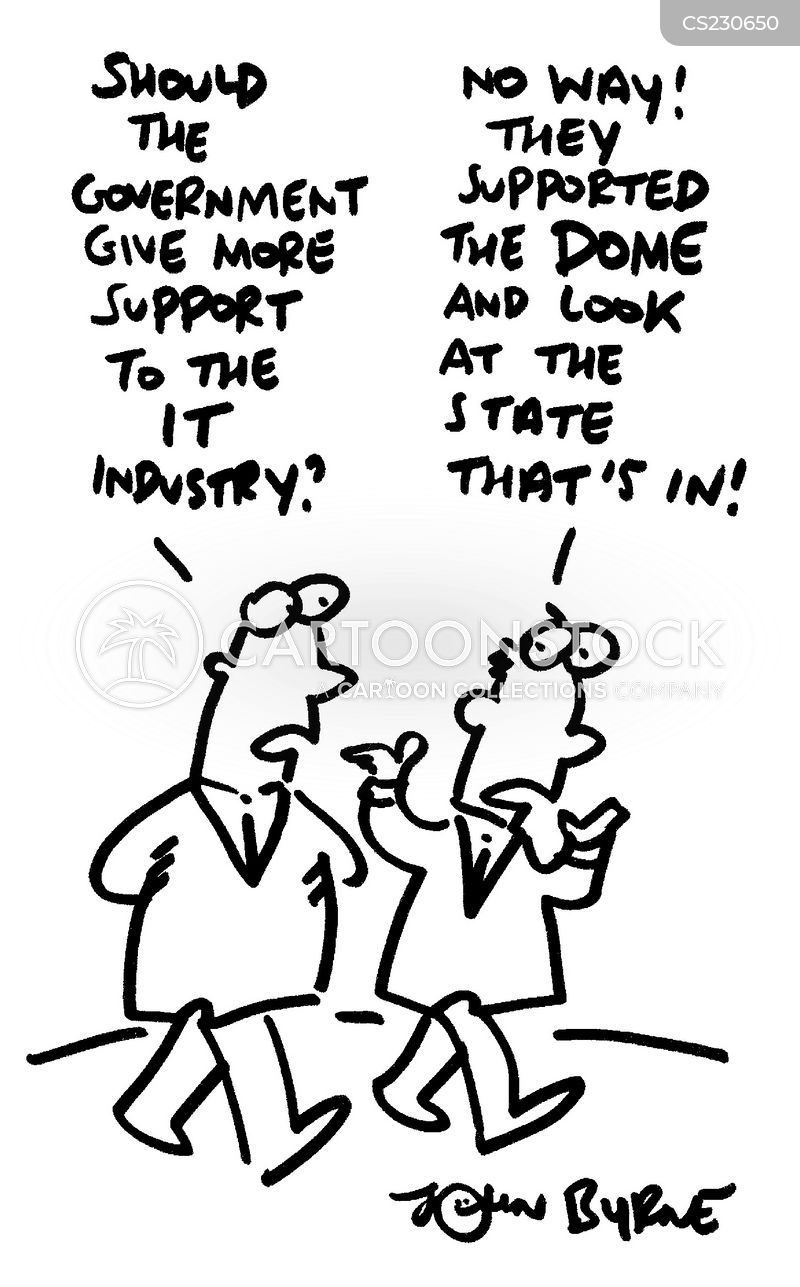 government support cartoon