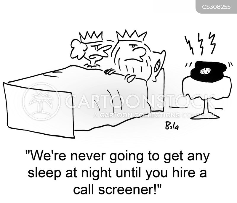 call screener cartoon