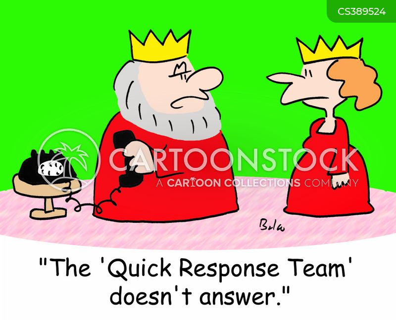 responding cartoon