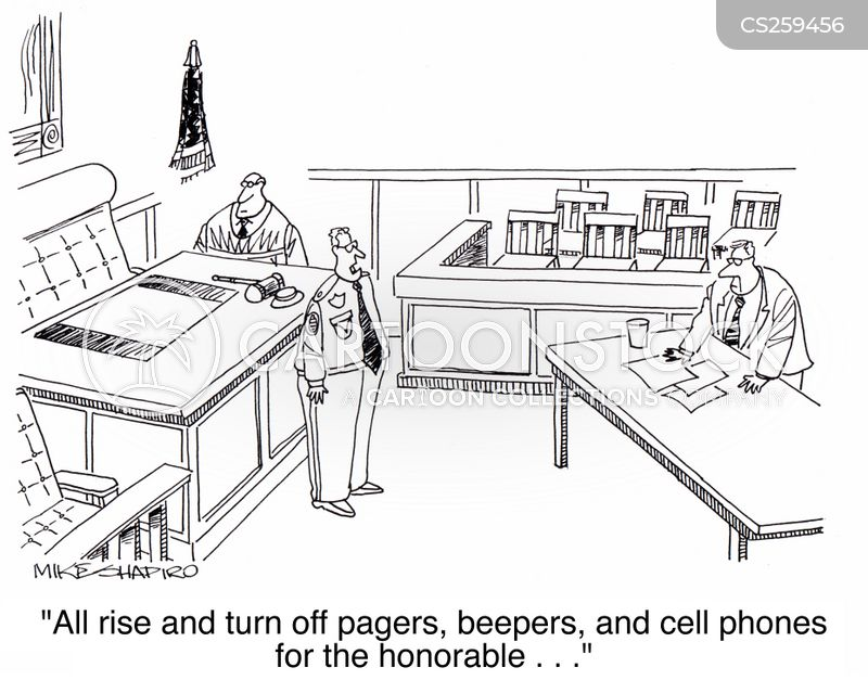 pager cartoon
