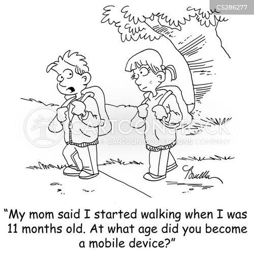 learning to walk cartoon
