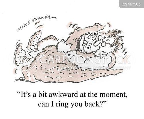 telephone etiquette cartoon