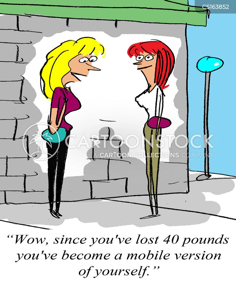 slimming down cartoon