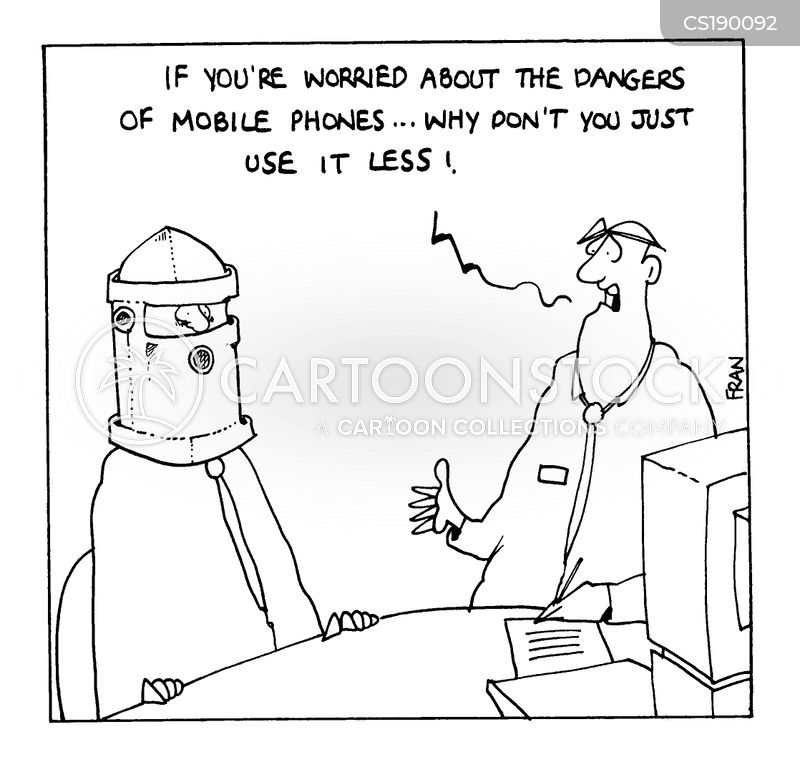 Image result for cell phone radiation cartoon funny