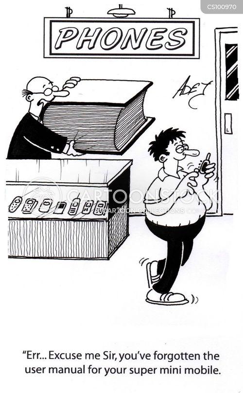 user manual cartoon