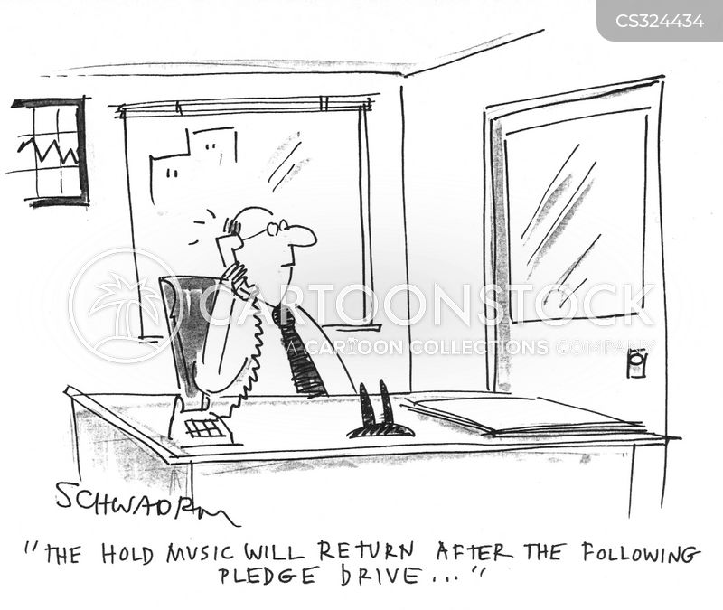 pledge drive cartoon