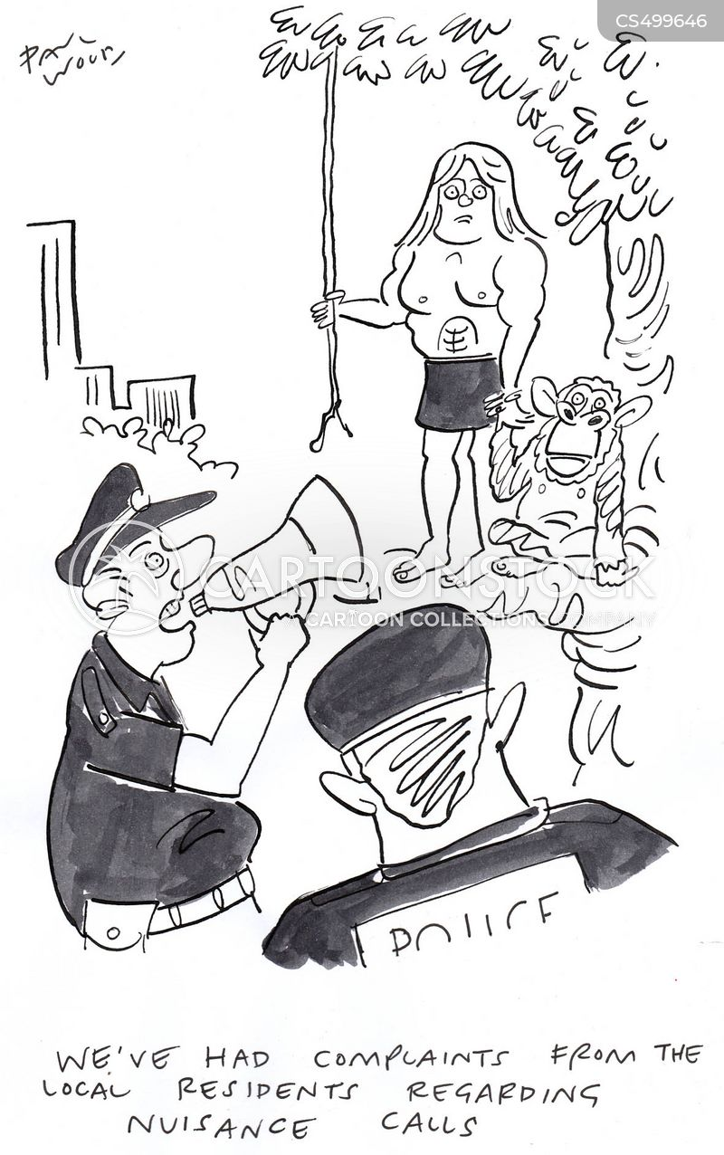 noise complaint cartoon