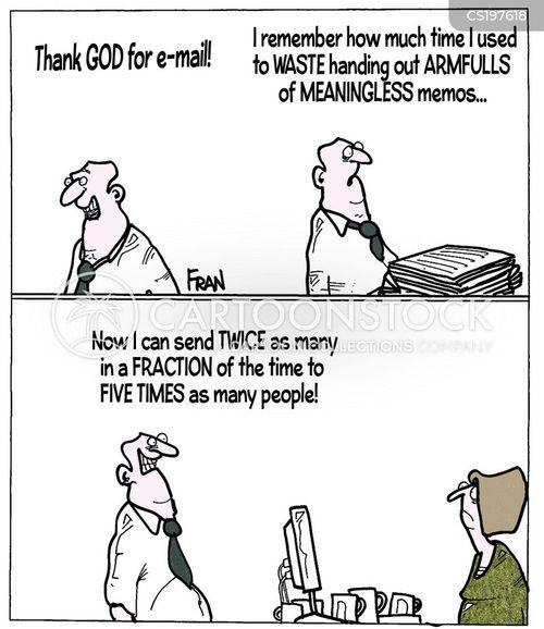 office communications cartoon