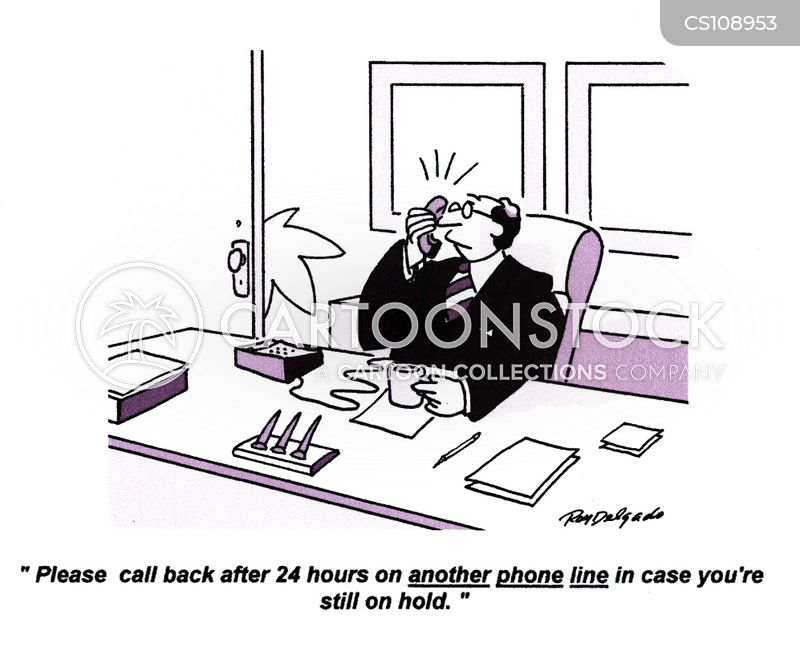 put on hold cartoon