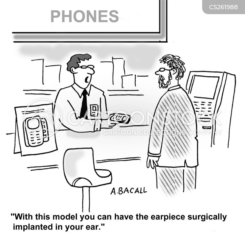 earpiece cartoon