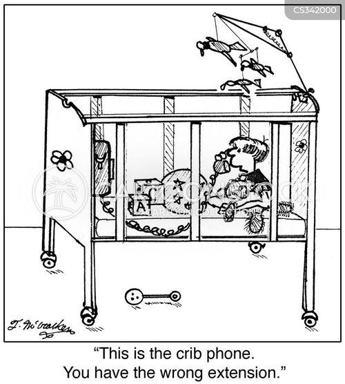 baby cribs cartoon