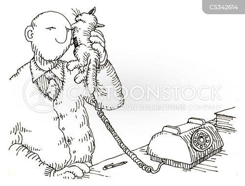 handset cartoon