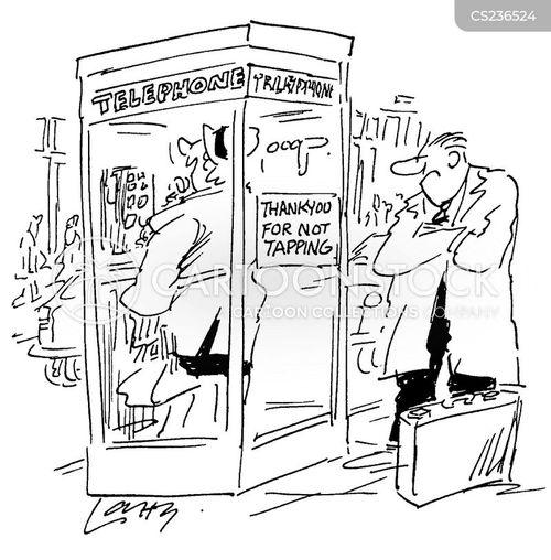 phone box cartoon