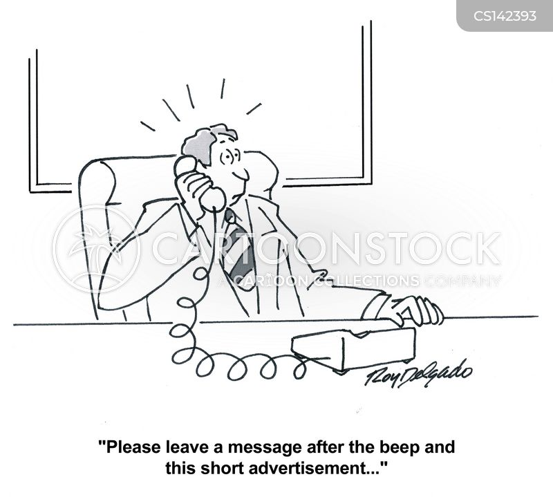 leave a message cartoon
