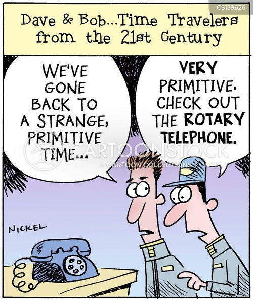 time traveler cartoon