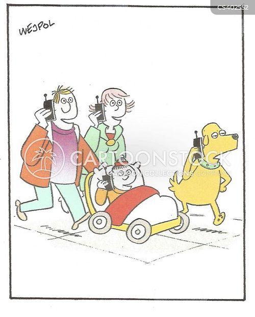 mobile addict cartoon