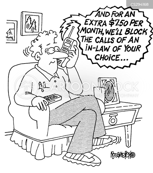 telephone companies cartoon