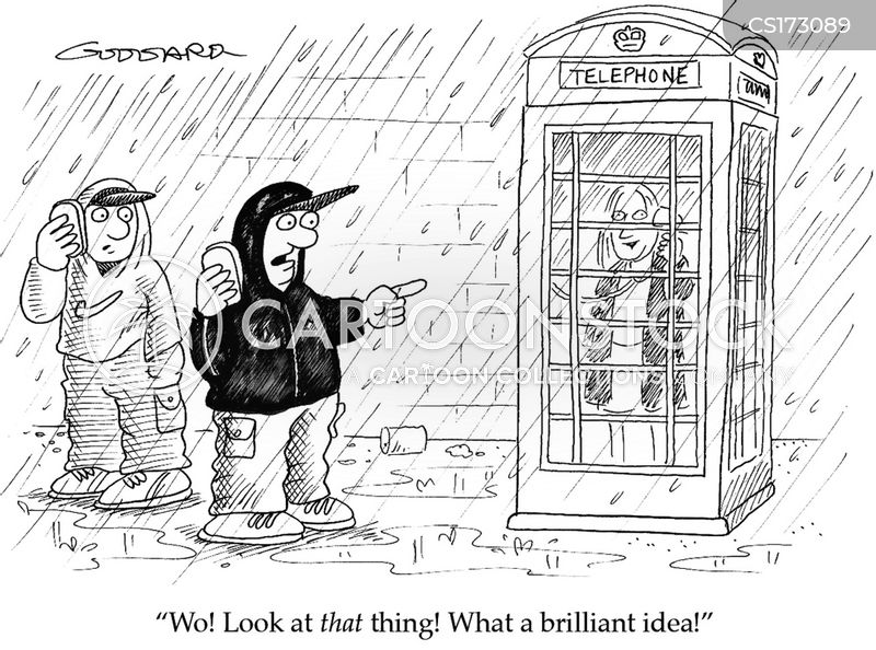 phone booth cartoon