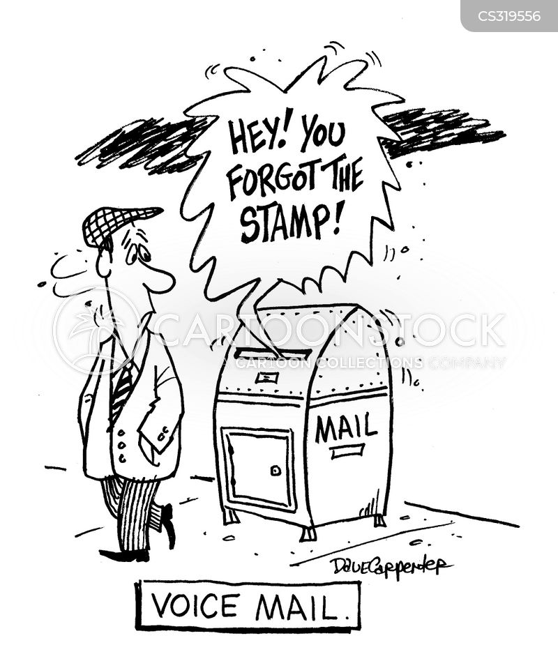 post boxes cartoon