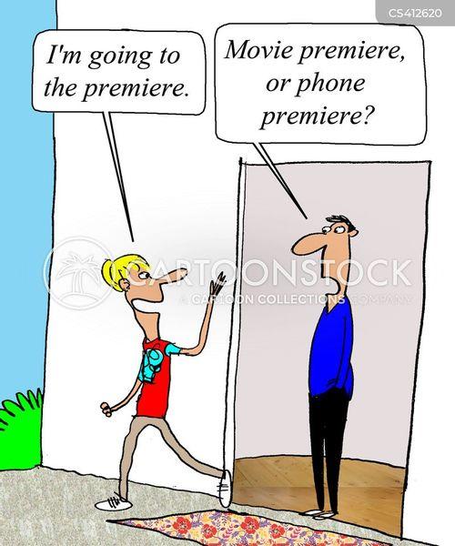 film premiere cartoon