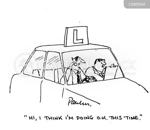 reckless driving cartoon
