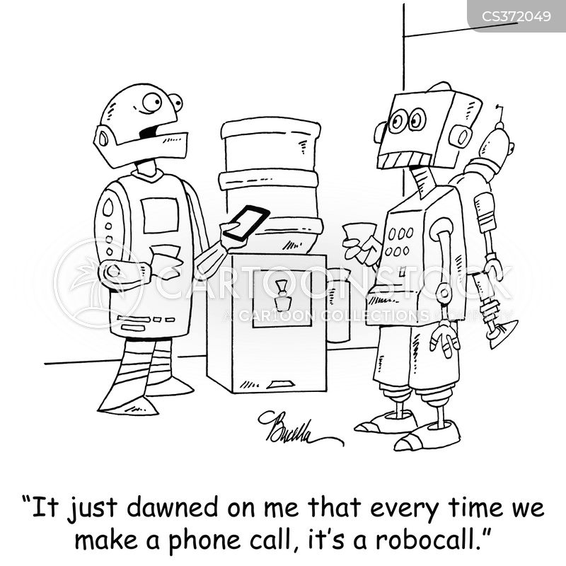 Robocall Cartoons and Comics - funny pictures from CartoonStock
