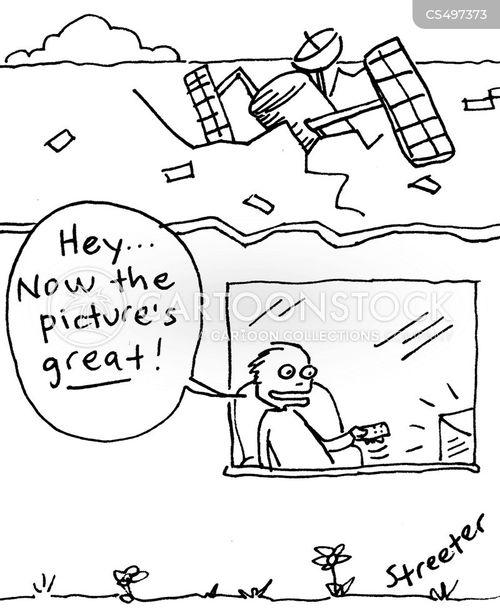 tv signal cartoon