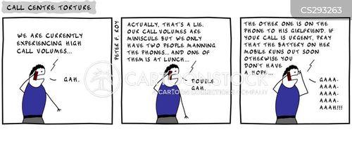 call volume cartoon