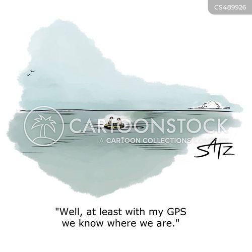 g.p.s. cartoon