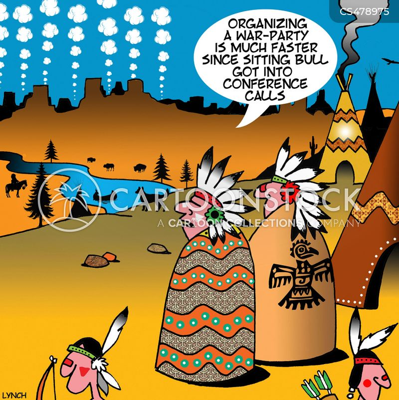 Sitting Bull Cartoons and Comics - funny pictures from CartoonStock