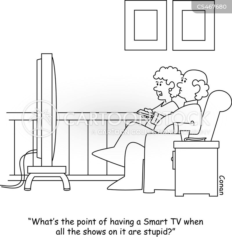 smart tv cartoon