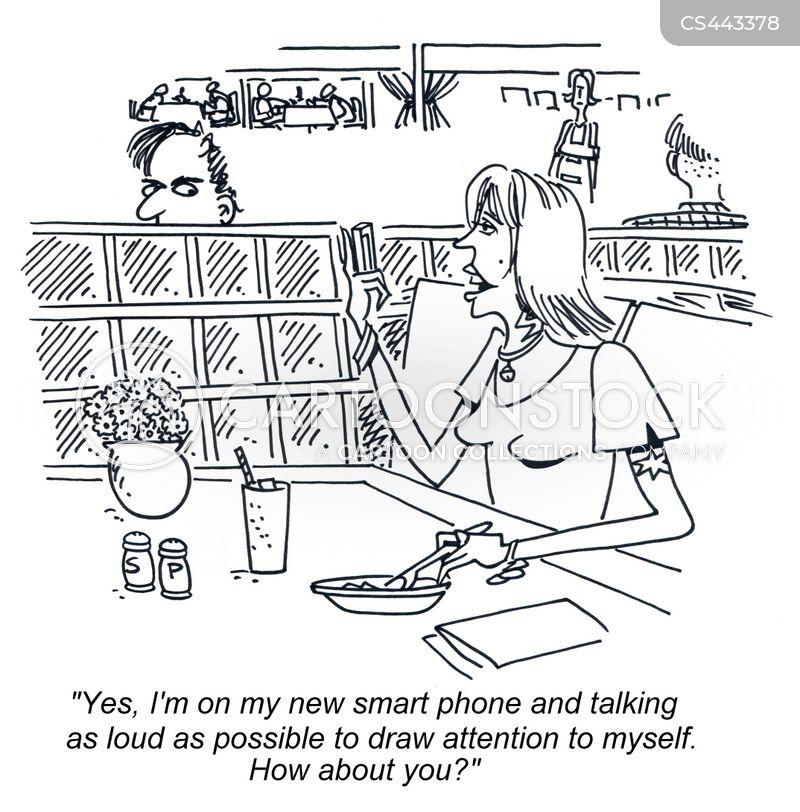 restaurant etiquette cartoon