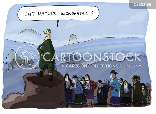 nature walk cartoon