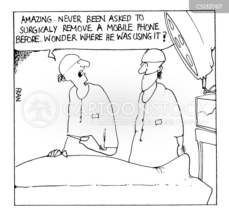 surgical removal cartoon