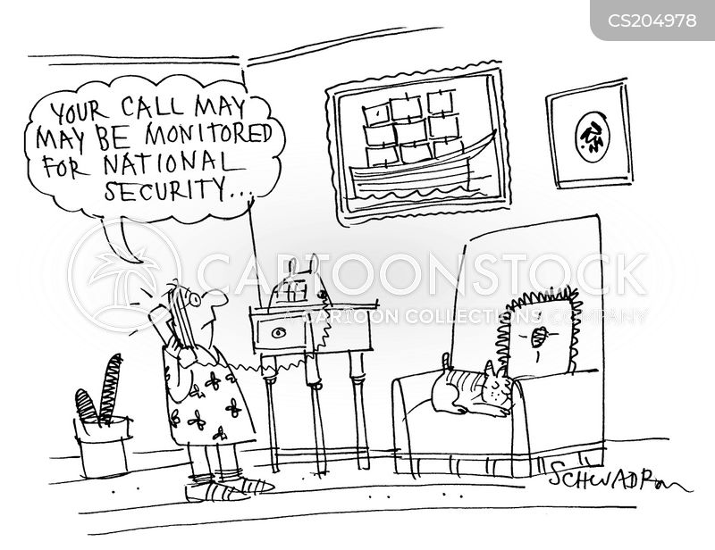 wire tapping cartoon