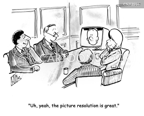 teleconferences cartoon