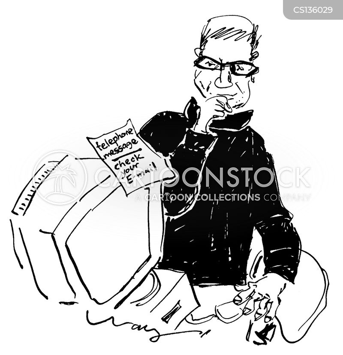 telephone message cartoon