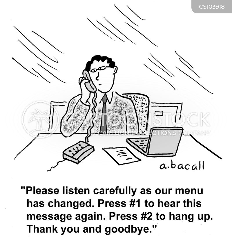 automated phone calls cartoon