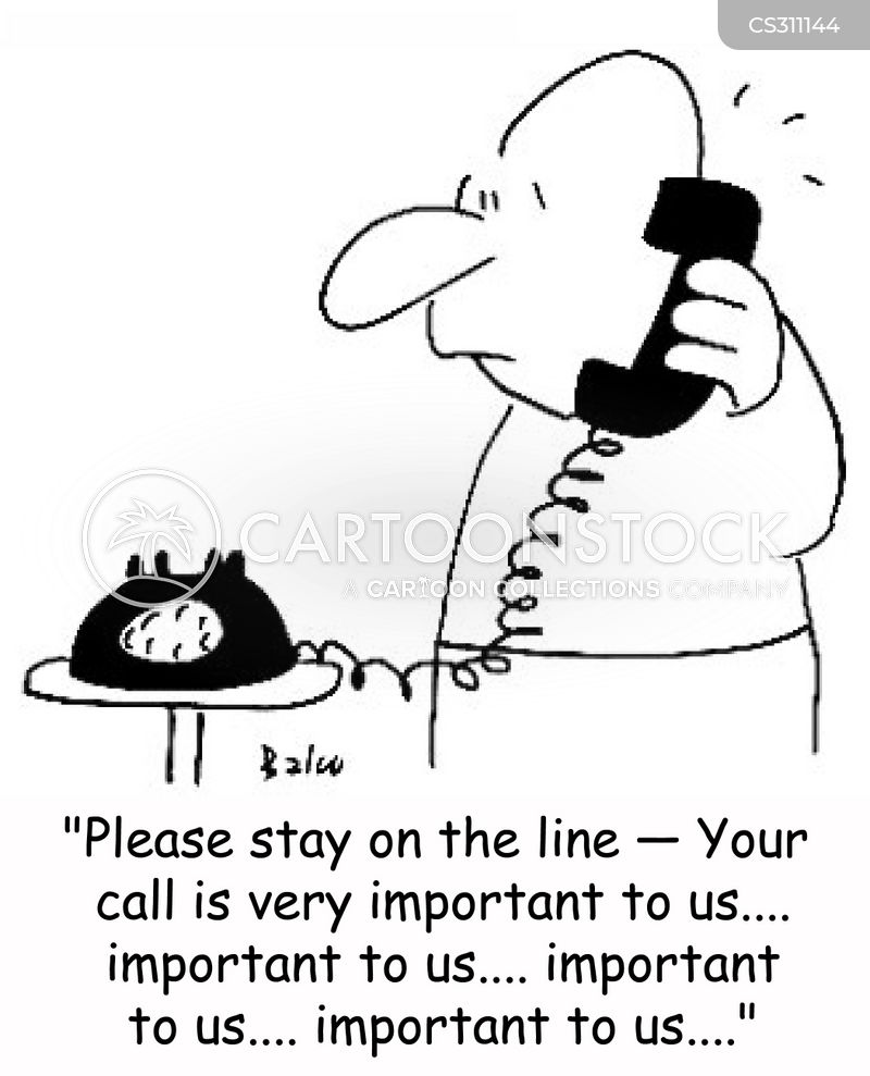 stay on the line cartoon