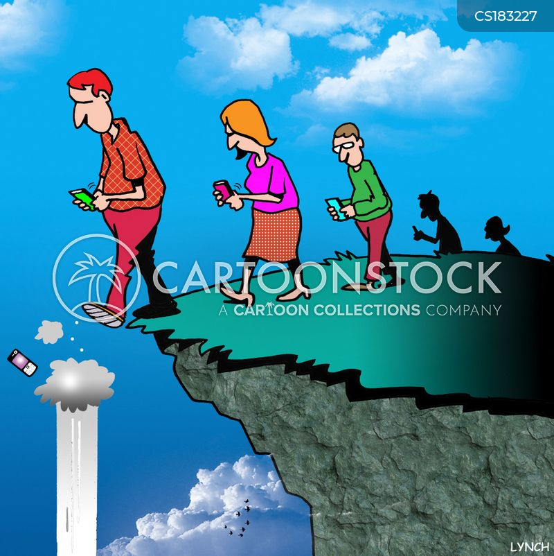 cliff edge cartoon