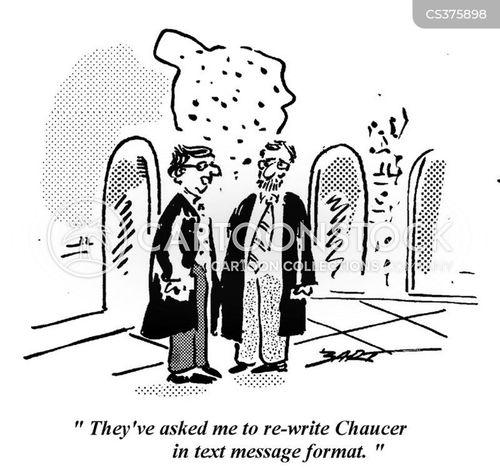 chaucer cartoon