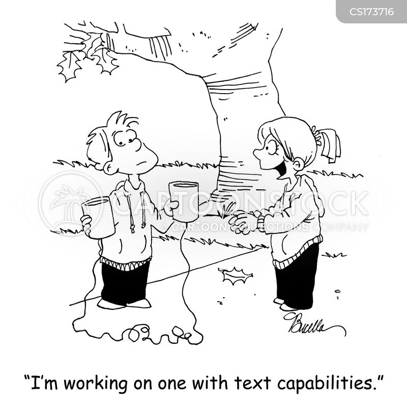 text messaging cartoon