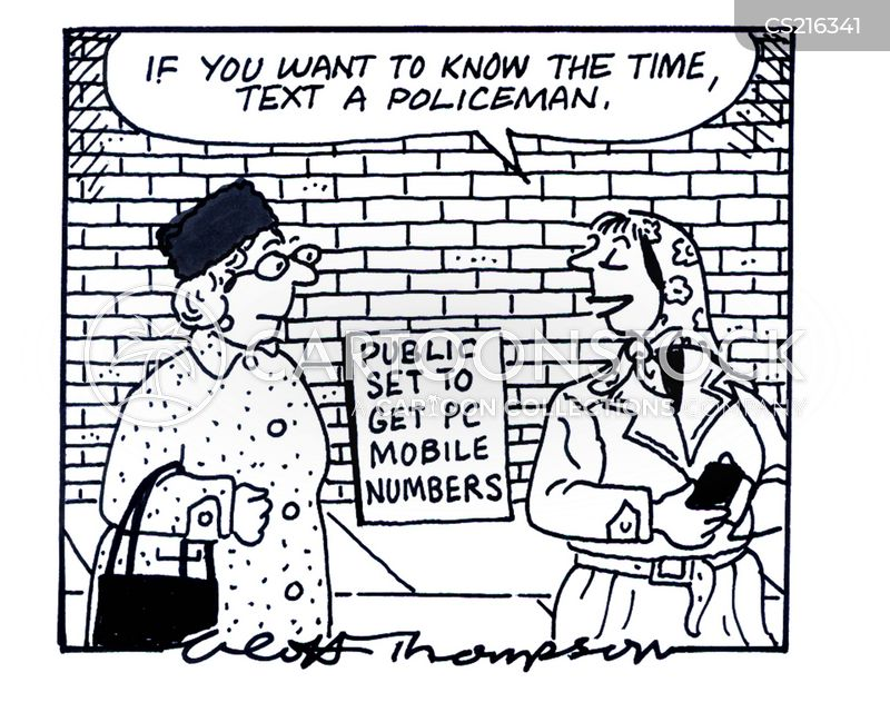 mobile numbers cartoon