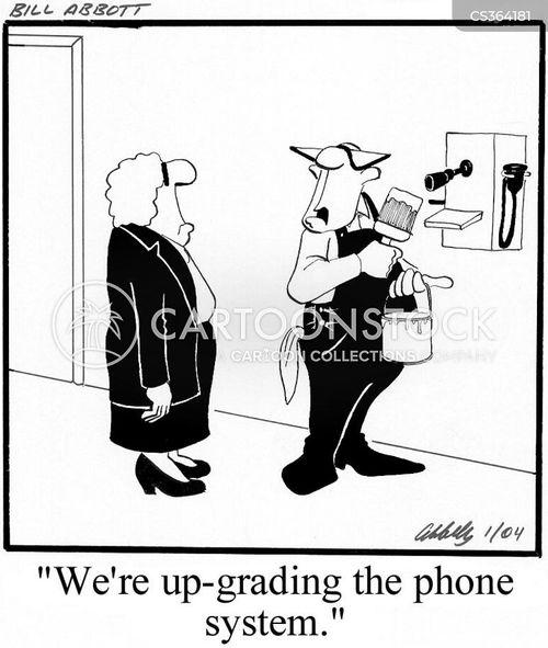 phone systems cartoon