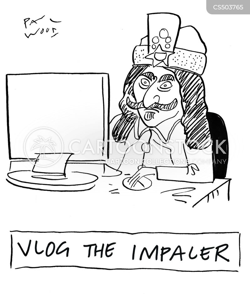 vlogger cartoon